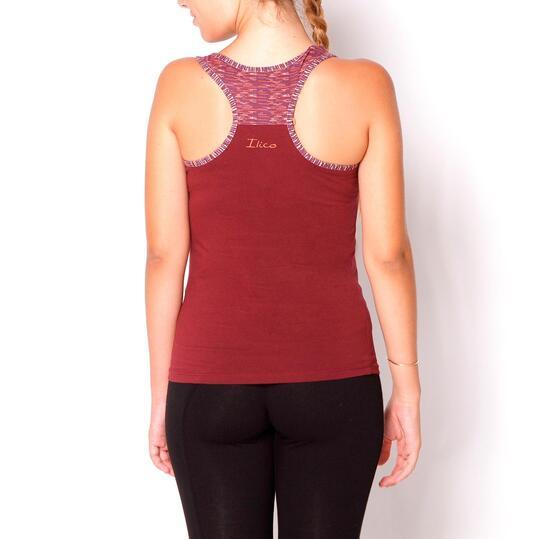 Camiseta ILICO Fitness Vino Mujer