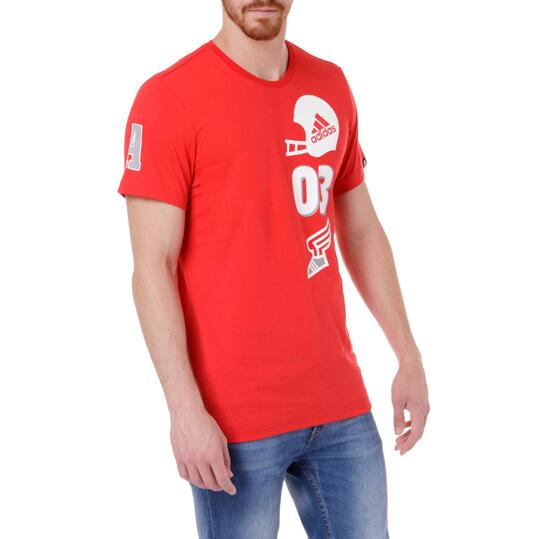 Camiseta manga corta hombre ADIDAS CASCo Roja
