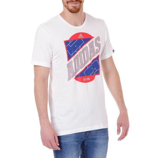 Camiseta Manga Corta Hombre ADIDAS Blanca