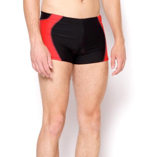 PARAQUA Bañador Negro Rojo Hombre