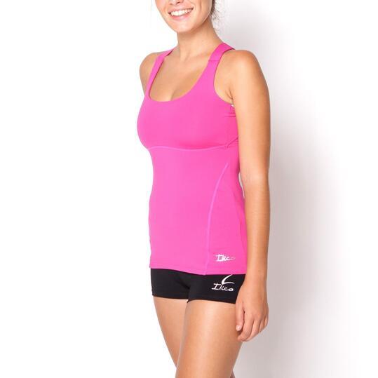 Camiseta ILICO Fitness Fucsia Mujer