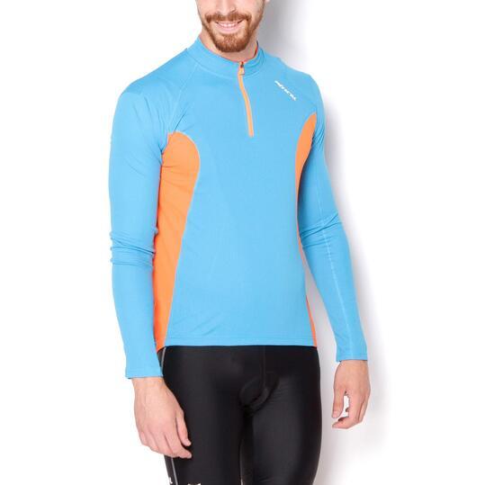 MÍTICAL Maillot Ciclismo Azul Naranja Hombre