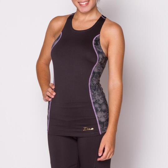 Camiseta ILICO Fitness Antracita Mujer