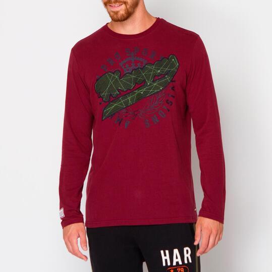 Camiseta HARGUS Vino Hombre