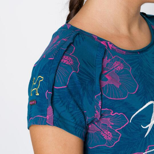 Camiseta HARGUS Azul Mujer