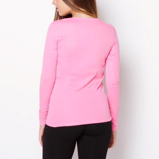 Camiseta Manga Larga IPSO Rosa Mujer