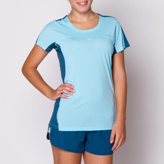 IPSO Camiseta Running Azul Mujer