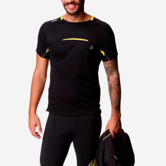 Camiseta Running IPSO Negro Hombre