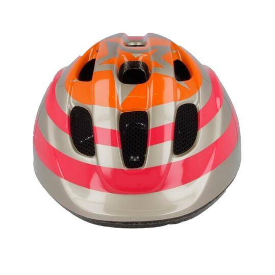 Casco Bicicleta MÍTICAL STAR Niña Rosa Naranja