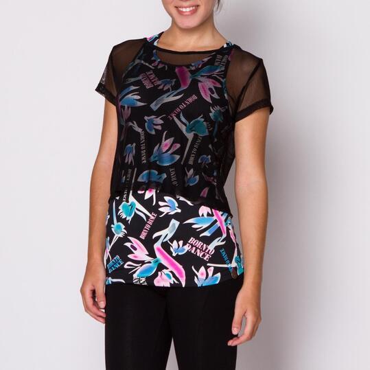 Camiseta ILICO Danza Negro Mujer