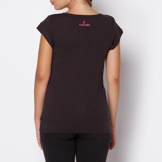 Camiseta ILICO Zen Antracita Mujer