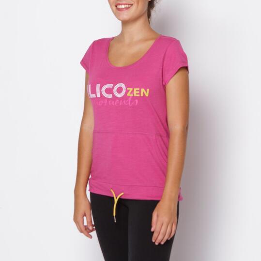 Camiseta ILICO Zen Fucsia Mujer