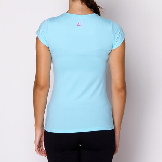 Camiseta ILICO Fitness Celeste Mujer