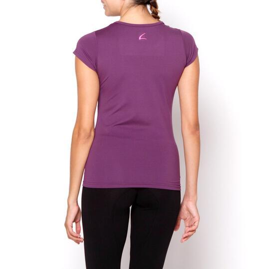 Camiseta ILICO Fitness Berenjena Mujer