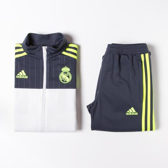 ADIDAS Chándal Real Madrid Marino Blanco Niño (8-14)
