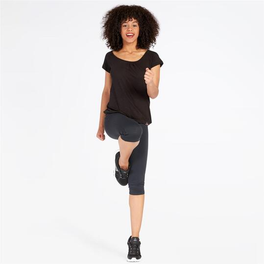 ILICO Camiseta Manga Corta Negra Mujer
