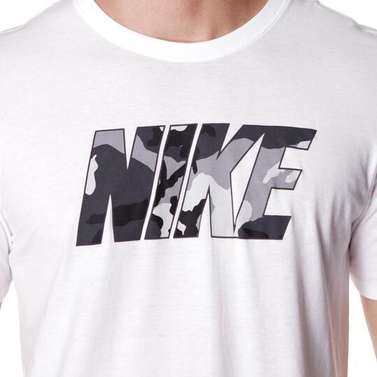 Camiseta Manga Corta Hombre NIKE CAMo Blanca