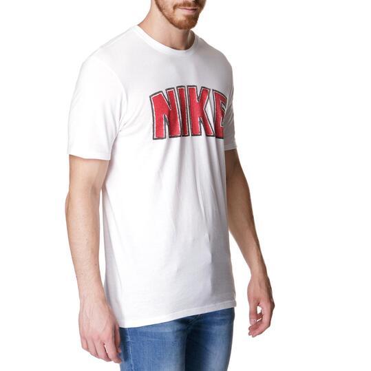Camiseta Manga Corta Hombre NIKE TIME Blanca