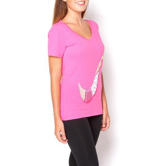 NIKE SWOOSH Camiseta Manga Corta Rosa