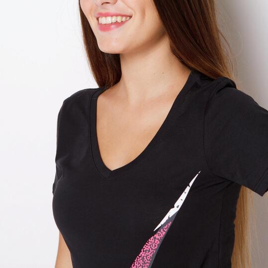NIKE SWOOSH Camiseta Manga Corta Negro