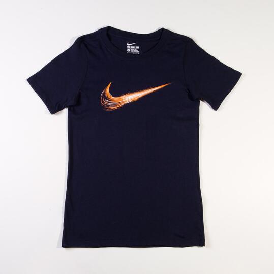 NIKE YTH Camiseta Manga Corta Azul Marino (10-16)