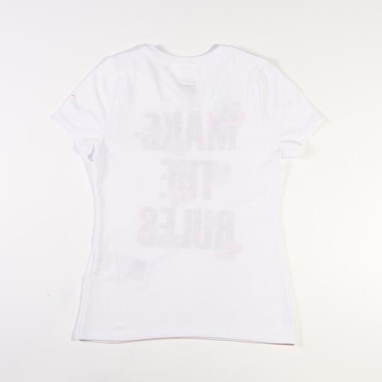 NIKE YTH Camiseta Manga Corta Blanco Niña (10-16)
