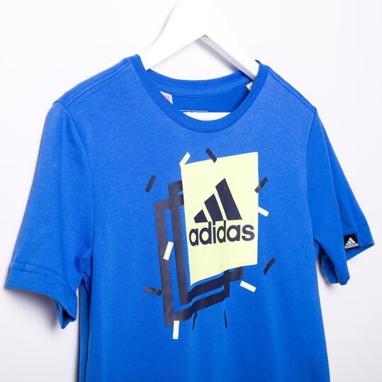 Camiseta Manga Corta ADIDAS BOXY Azul Niño (10-16)