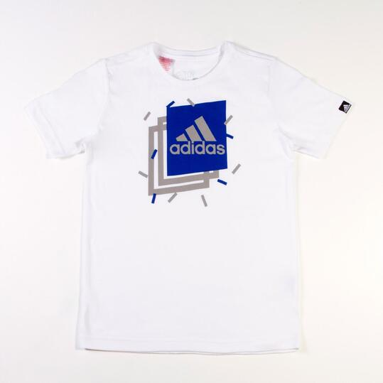 Camiseta Manga Corta ADIDAS BOXY Blanco Niño (10-16)