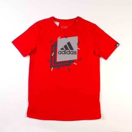 Camiseta Manga Corta ADIDAS BOXY Burdeos Niño (10-16)