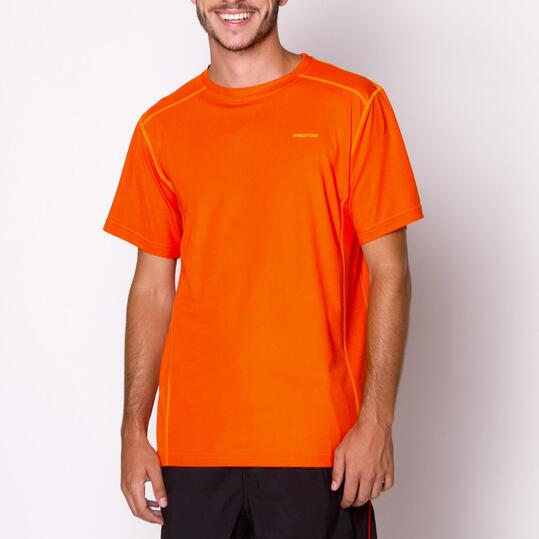 PROTON Camiseta Naranja Hombre