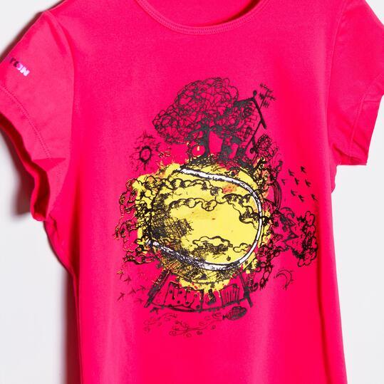 Camiseta PROTON Fucsia Niña (10-16)