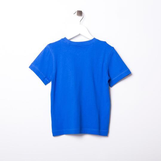 ADIDAS LOGO Camiseta Manga Corta Azul Niño