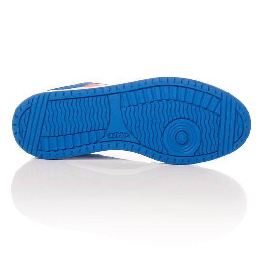 ADIDAS HOOPS Zapatillas Casual Cordones Azul Niño