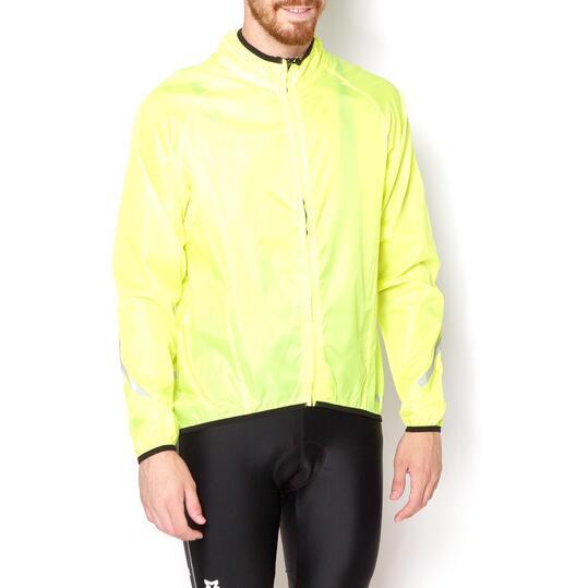 MÍTICAL Chubasquero Ciclismo Plata Verde Lima Hombre