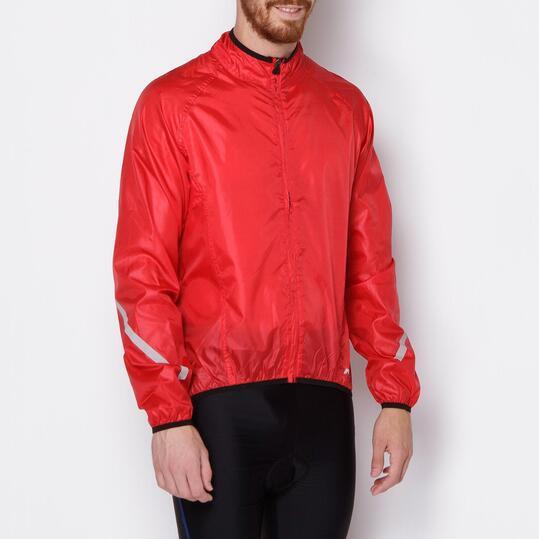 MÍTICAL Chubasquero Ciclismo Plata Rojo Hombre