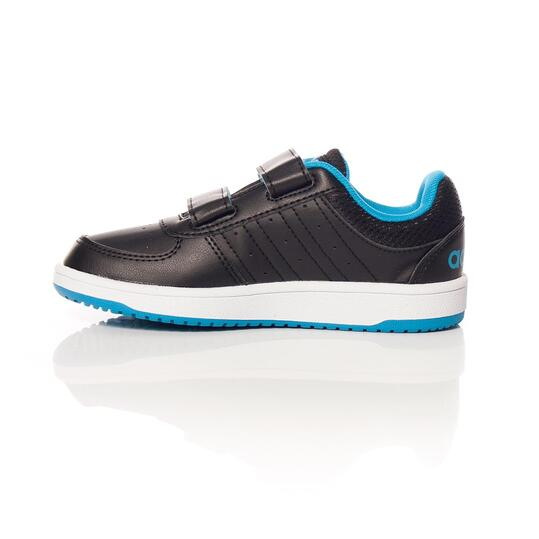 ADIDAS HOOPS Zapatillas Velcros Negro Azul Niño