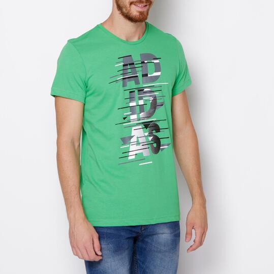 ADIDAS Camiseta Manga Corta Verde Hombre