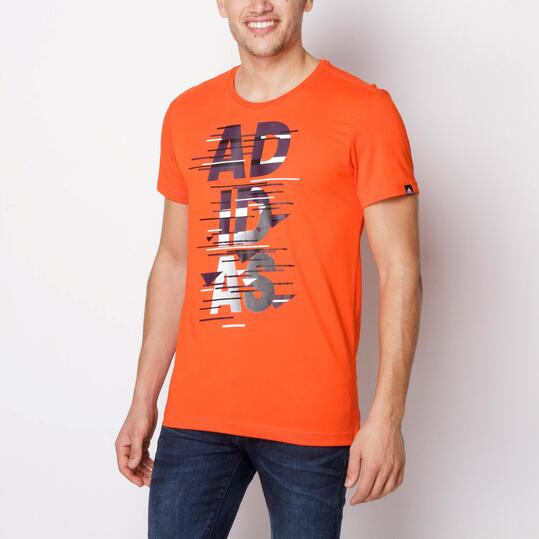ADIDAS Camiseta Manga Corta Naranja Hombre