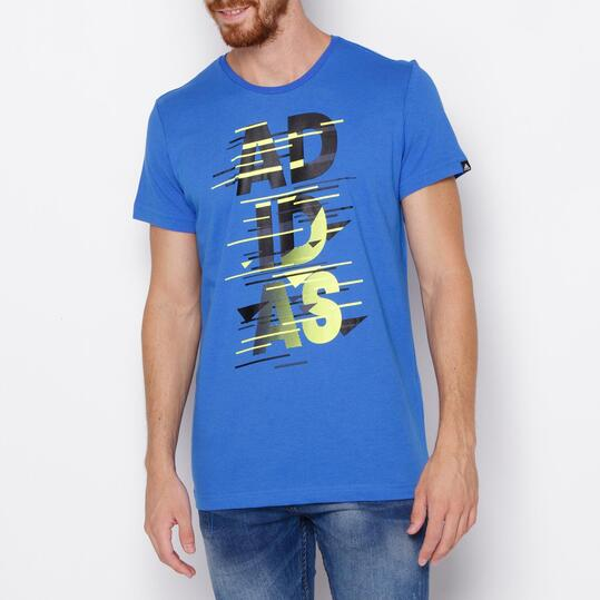 ADIDAS LOGO Camiseta Manga Corta Azul Hombre