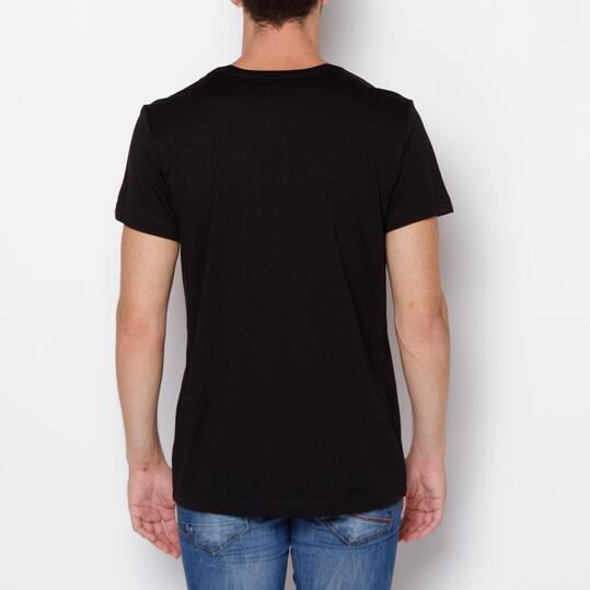 ADIDAS Camiseta Manga Corta Negro Hombre