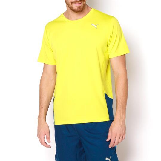 PUMA Camiseta Running Amarillo Hombre