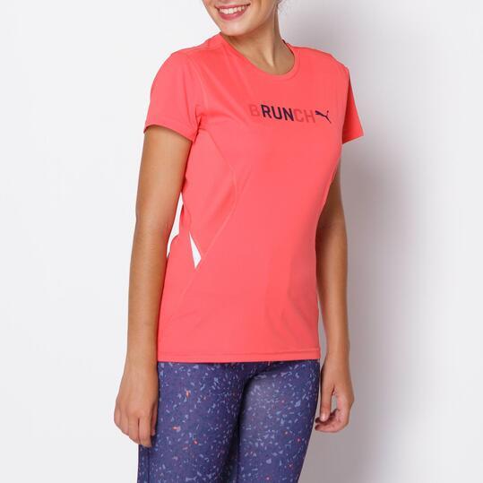 PUMA Camiseta Running Coral Mujer