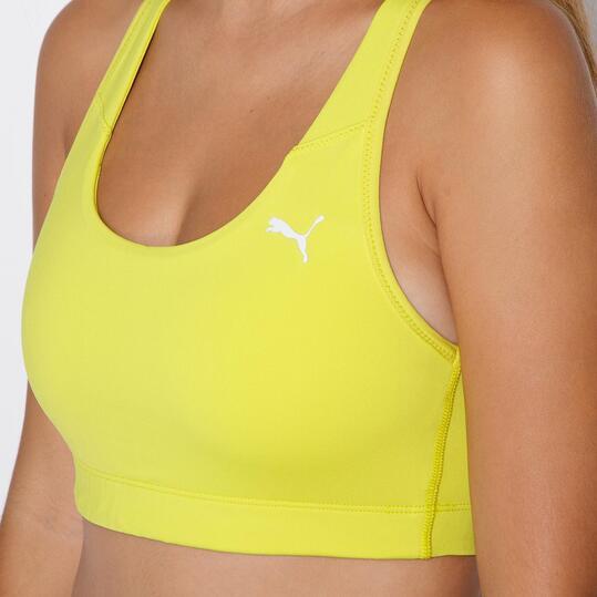 PUMA ESSENTIAL Sujetador Deportivo Amarillo Mujer