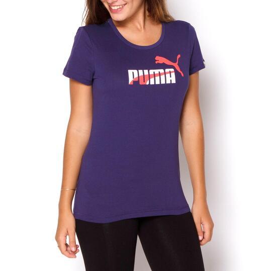 PUMA FUN Camiseta Manga Corta Azul Mujer