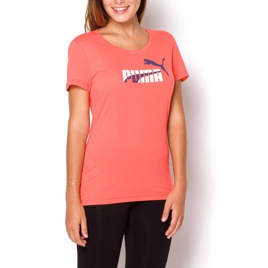 PUMA FUN Camiseta Manga Corta Coral Mujer