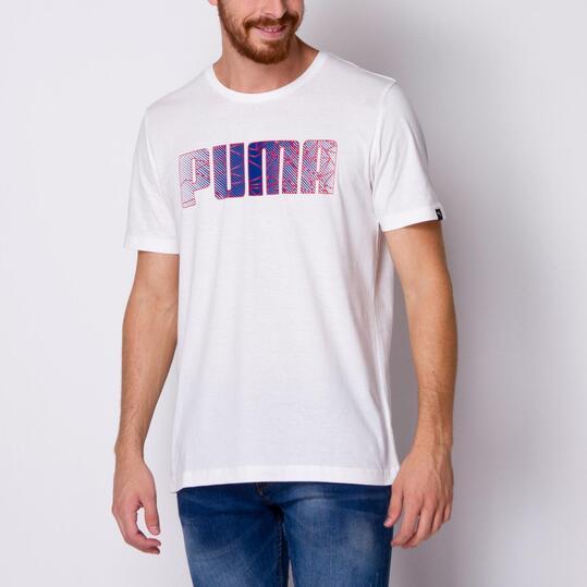 PUMA FUN Camiseta Manga Corta Blanca Hombre
