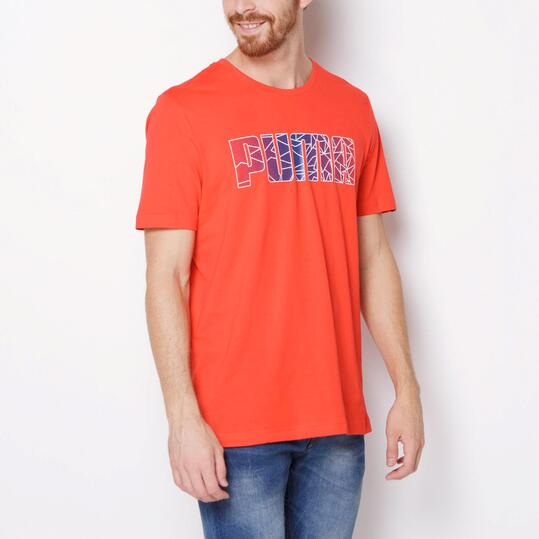 PUMA FUN Camiseta Manga Corta Rojo Hombre