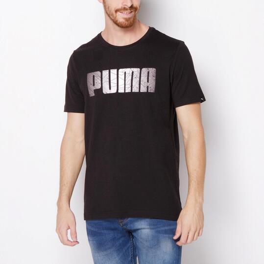 PUMA FUN Camiseta Manga Corta Negro Hombre