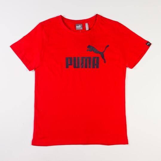 PUMA LOGO Camiseta Rojo Niño