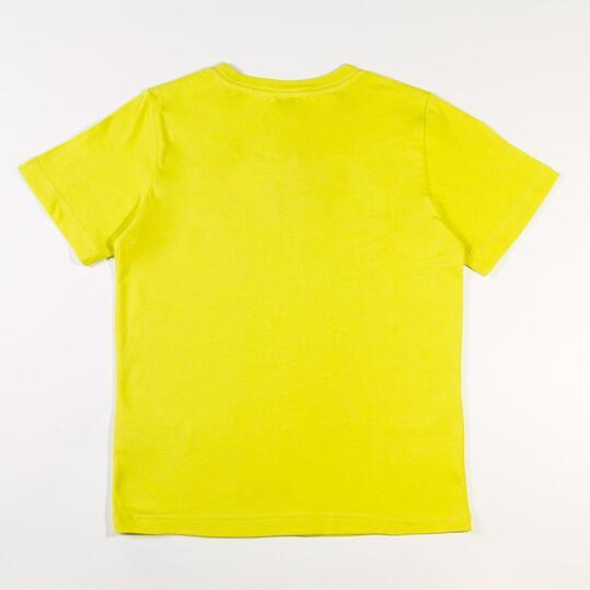 PUMA ESS Camiseta Amarillo Niño